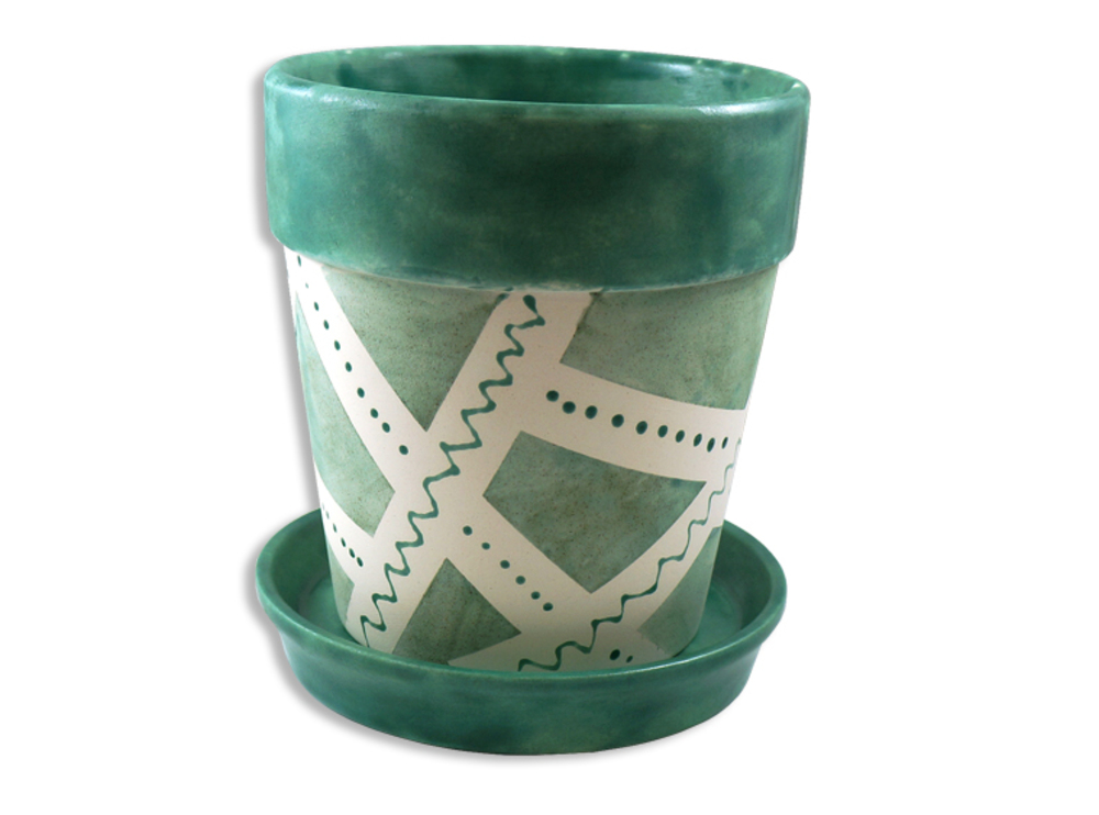 Small Flower Pot With Tray