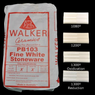 Walkers PB103 Fine White Stoneware - 50 to 99 Bags