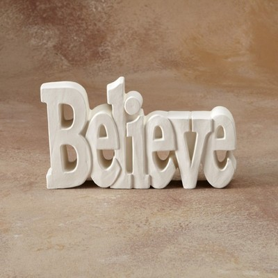Believe Word Plaque