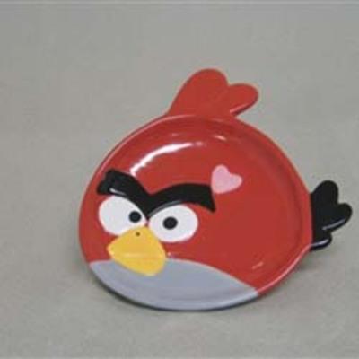 Puffed Bird Plate