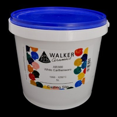 Walkers White Earthenware Mid Fire Slip