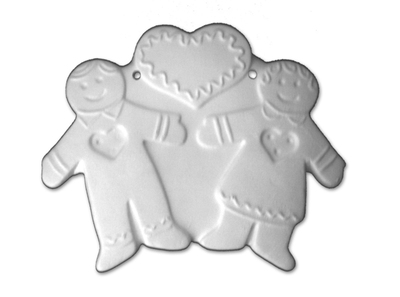 Gingerbread Couple Ornament