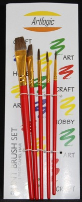 Artlogic Synthetic Brush Set of 6 (Set 4)