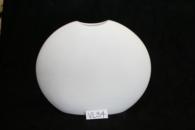 Flat Round Vase