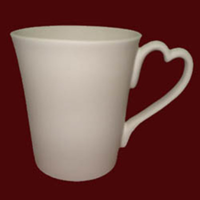 Heart Shaped Handle Mug