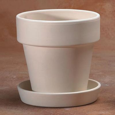 Medium Flower Pot With Saucer