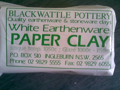 Blackwattle White Earthenware Paper Clay