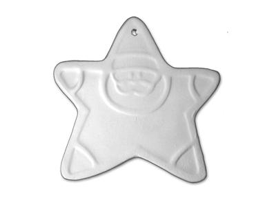 Santa Star Ornament