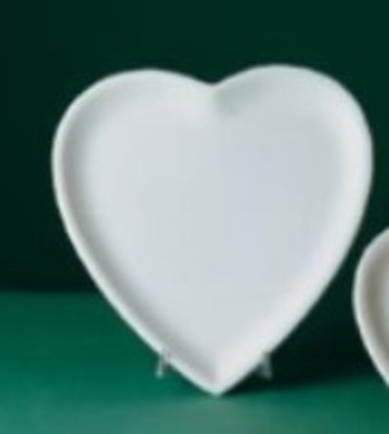 Large Heart Plate - Earthenware