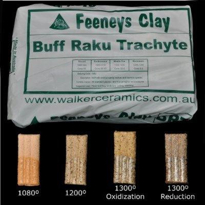 Feeneys Buff Raku Trachyte - 80 Bags