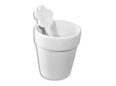 Flower Pot Cup and Spoon