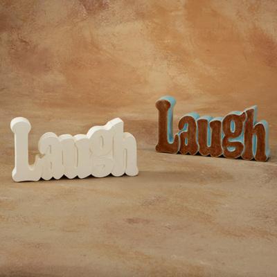 Laugh Word Plaque