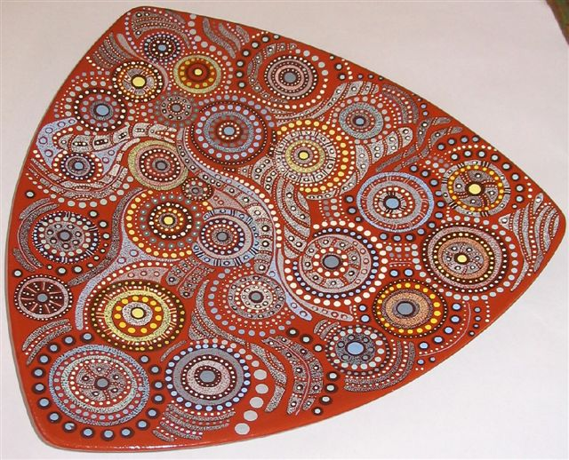 Keringke Arts 1 Aboriginal Dot Painting on a Plate