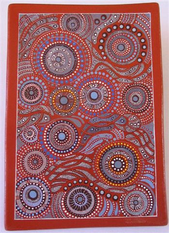 Keringke Arts 2 Aboriginal Dot Painting on a Plate