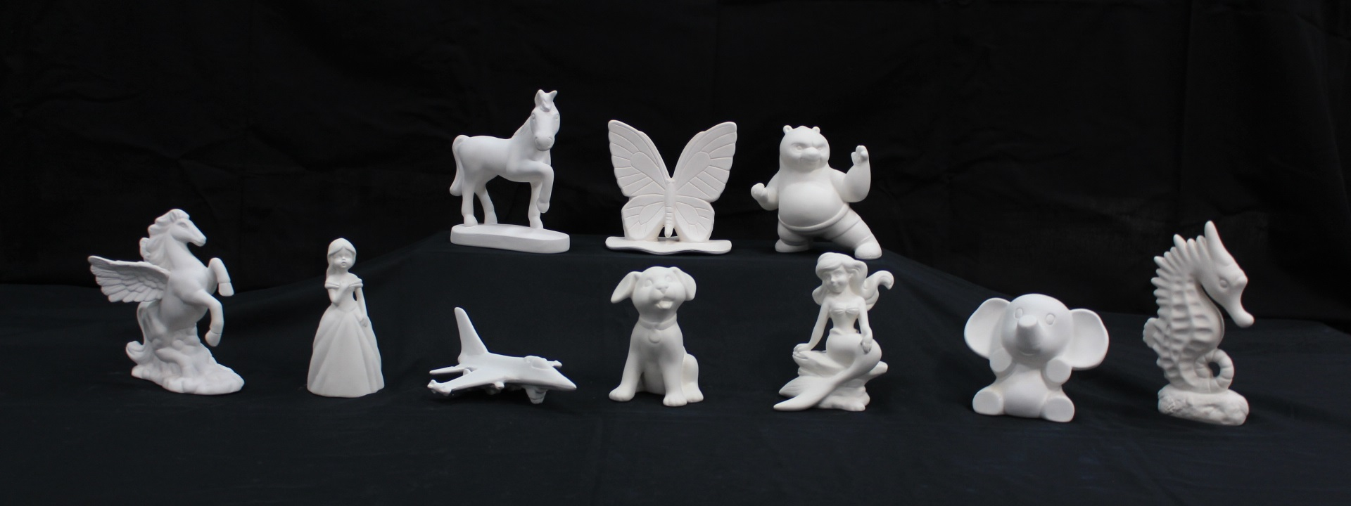 Bisqueware figurines